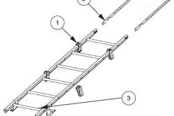 Схема установки лестницы на скат