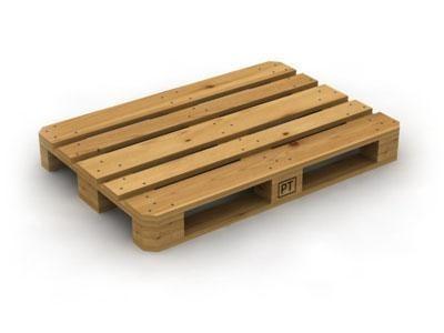 Деревянный поддон для хранения листов металлочерепицы