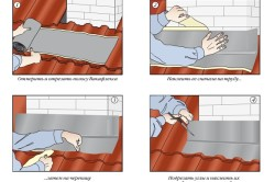 Процесс монтажа гидроизоляции трубы на крыше