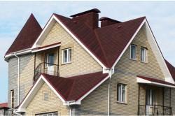 Дом с большим углом наклона крыши