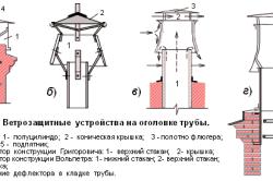Виды дефлекторов для защиты трубы