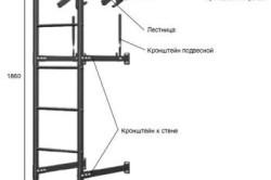 Схема устройства внешне-переходной лестницы для кровли