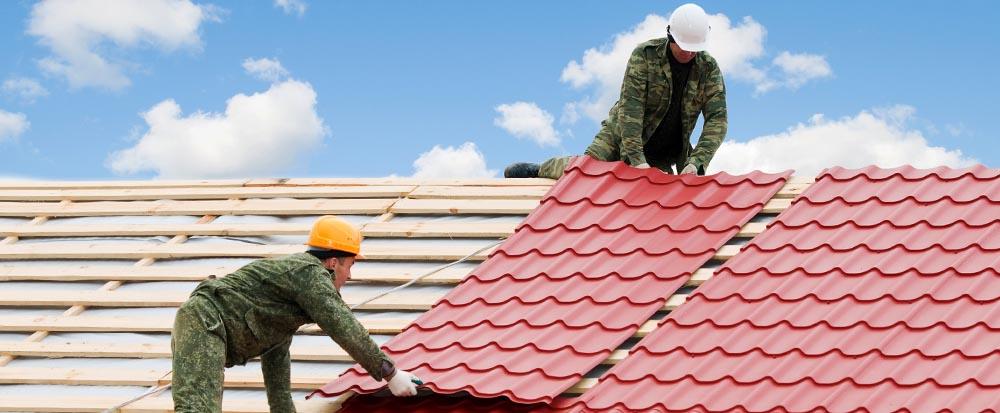 Крыша из металлочерепицы для дачной беседки