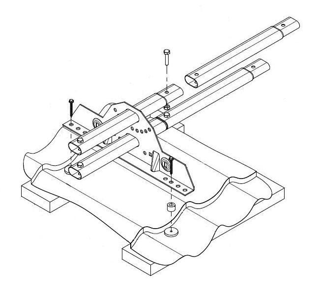 Схема монтажа трубчатого