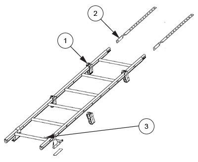 Схема установки лестницы на