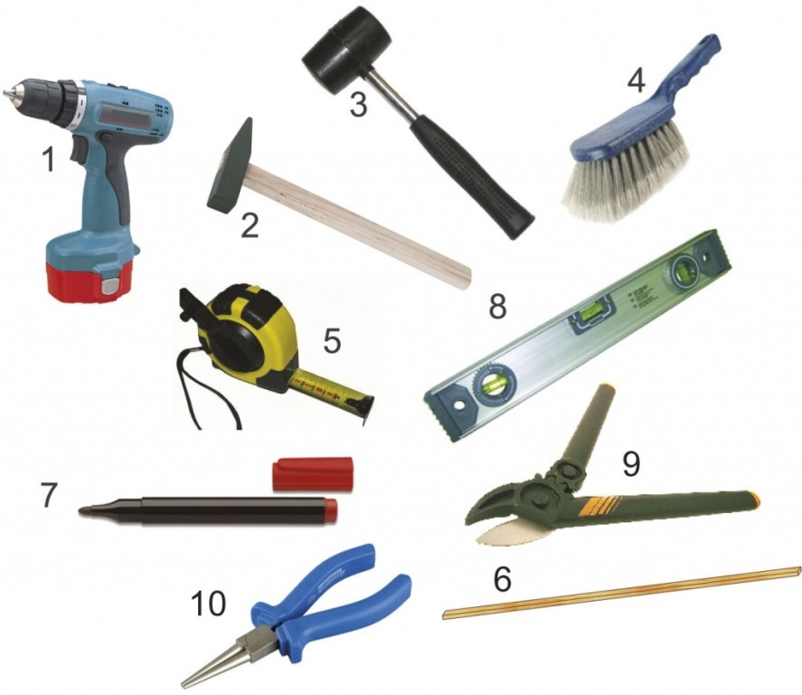 Инструменты для монтажа конька крыши