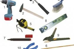 Инструменты для монтажа кровли