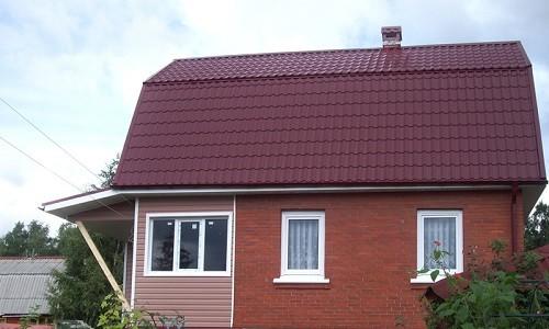 Крыша из металлочерепицы