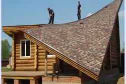 Покрытие крыши гибкой черепицей