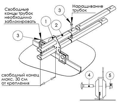 Схема установки трубчатого
