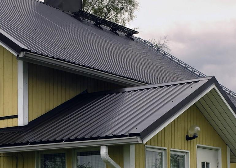 фото крыш из металлопрофиля